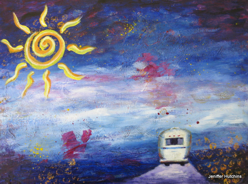 """The Journey"" Acrylic Painting by Jeniffer Hutchins"