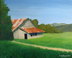 """Gooden Ranch,"" Oil 20""x24"" $500"