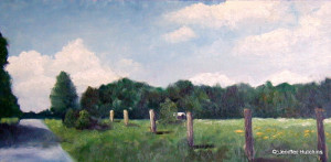 """Fenceposts,""  Oil 12""x24""  *  NFS"