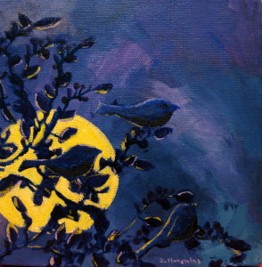 """Twilight,"" Acrylic  6""x6"" *  Sold  *  Prints Available 8""x8"" $35"