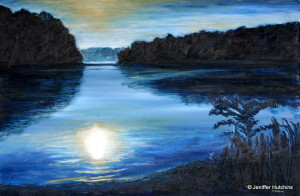 """Still Waters,"" Oil  24""x36"" $850"