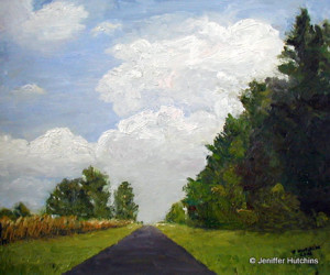 """Country Road,"" Oil 20""x24"" * Sold"