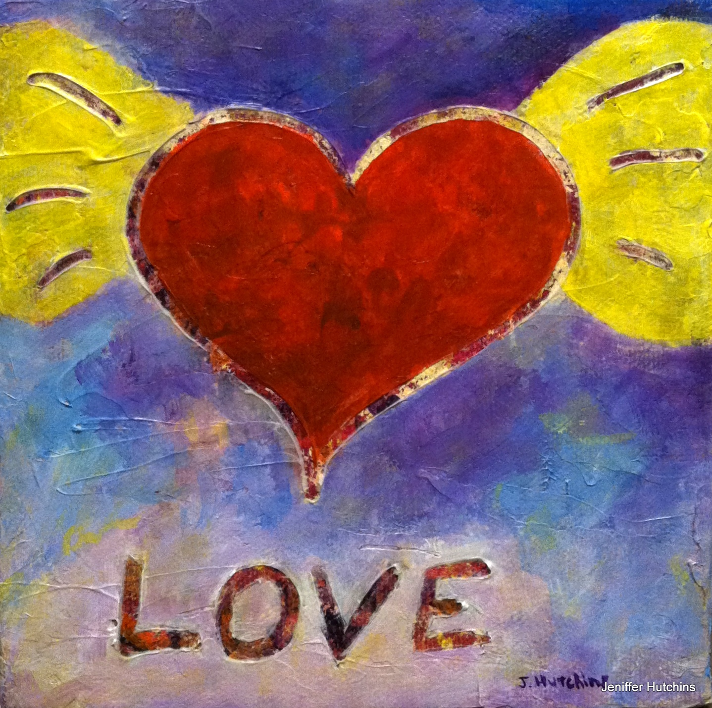 """""""Love Is All You Need""""  Acrylic 6""""x6"""" $50"""