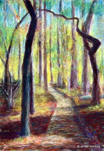 """Wooded Path,"" Pastel 9""x12"" * Sold"