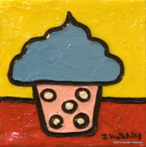 """Cotton Candy"" Acrylic 4""x4""  $45"
