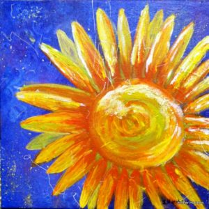 """My Sunshine"" 12""x12"" acrylic, $75"